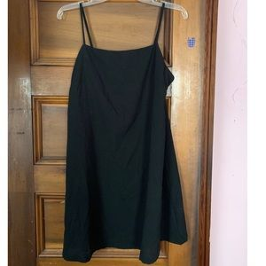 NWT black square neck shift dress